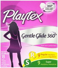 Playtex Gentle Glide 360, Fresh Scent, Super Plus, 18's