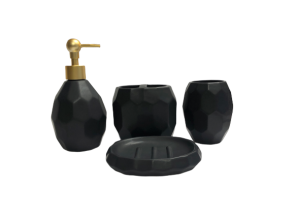 Bathroom Tumbler Black 4pc