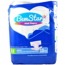 Bemstar Adult Diapers Unisex 10pcs-S/M