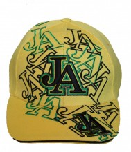 Jamaican Baseball Cap Embroidered JA, Yellow