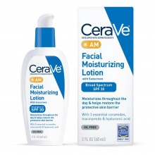 CeraVe AM Facial Moisturizing Lotion SPF 30 Oil-Free Face Moisturizer with Sunscreen 2oz